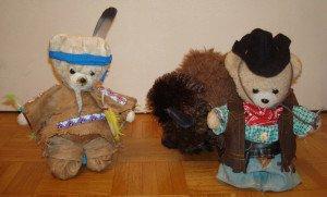 cow bear et indien
