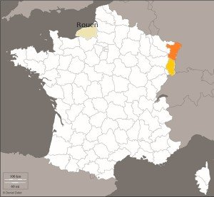 Carte géo Alsace